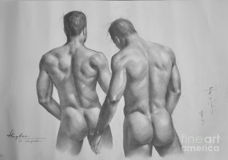 men Pencil drawings nude