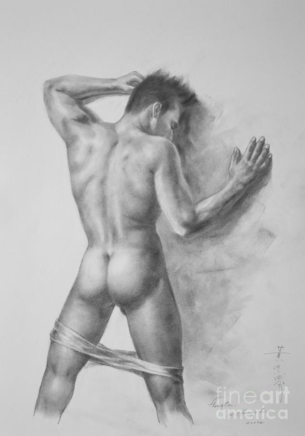 Nude men drawings