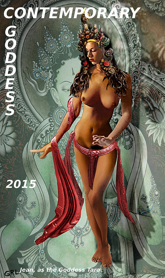 Original Female Nude Jean Goddess as Tara Dancing Poster by G Linsenmayer