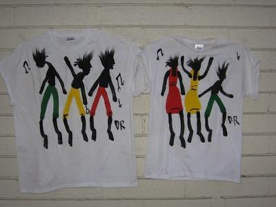 Original Hand Paintings T.shirt Tapestry - Textile by Duncan Roseme
