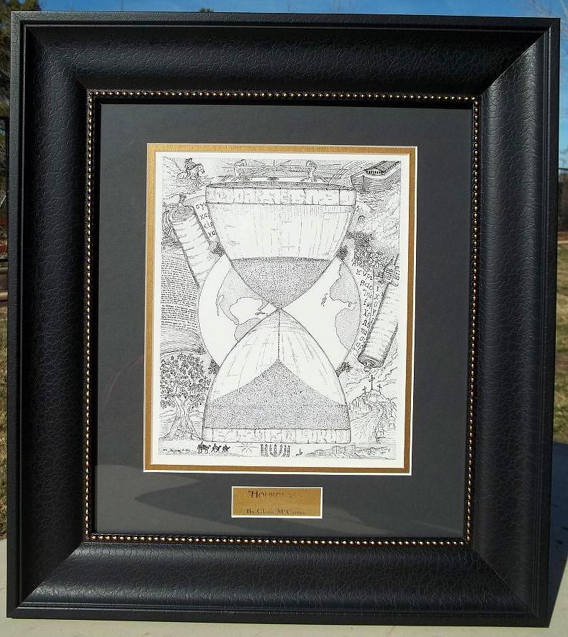 Original Drawing - Original-hourglass-framed by Glenn McCarthy Art and Photography