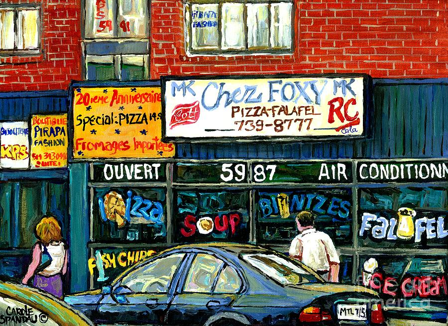 Original montreal paintings for sale the jewish street van for Original fine art for sale
