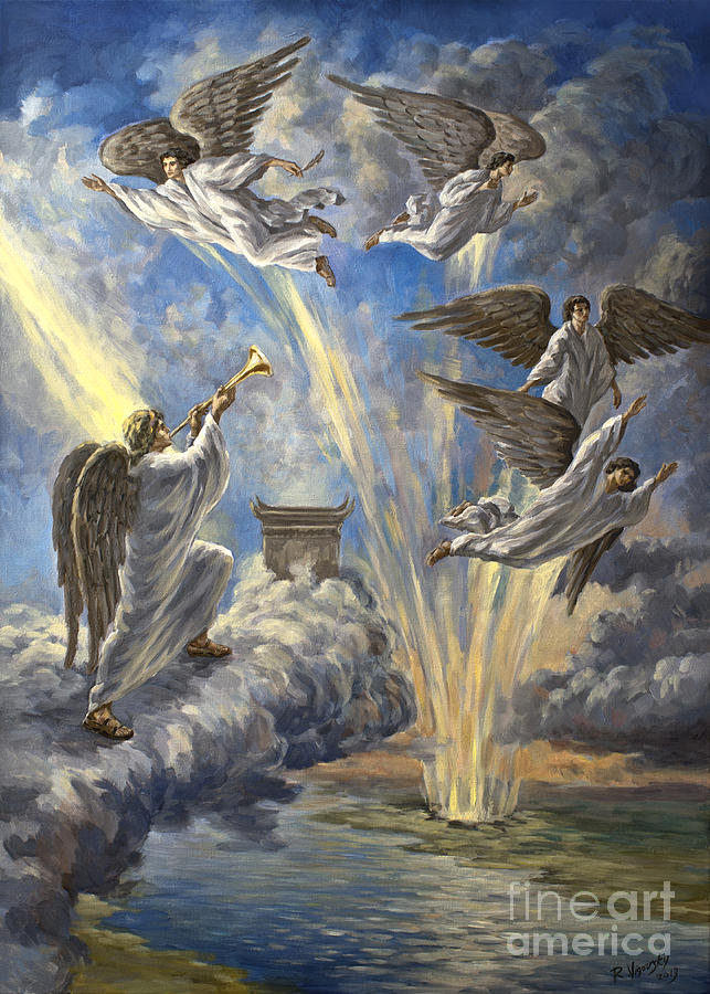 Revelation Painting - Sixth Trumpet Angel by The Decree to Restore Jerusalem