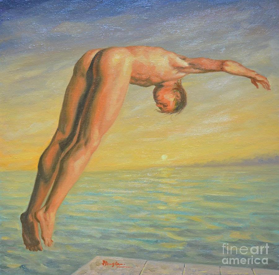 nude men oil painting