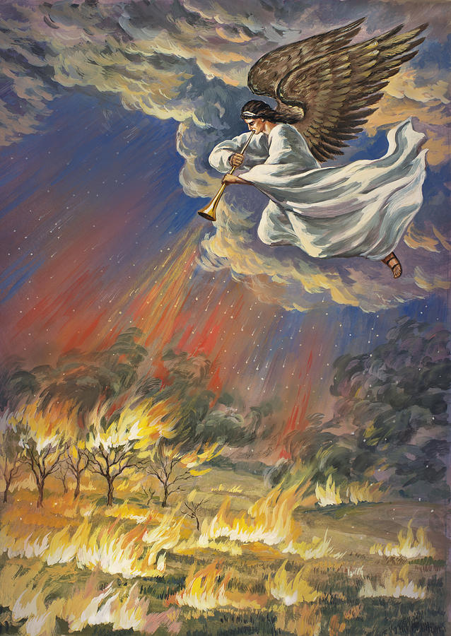 The First Angel Revelation 8 Painting By The Decree To