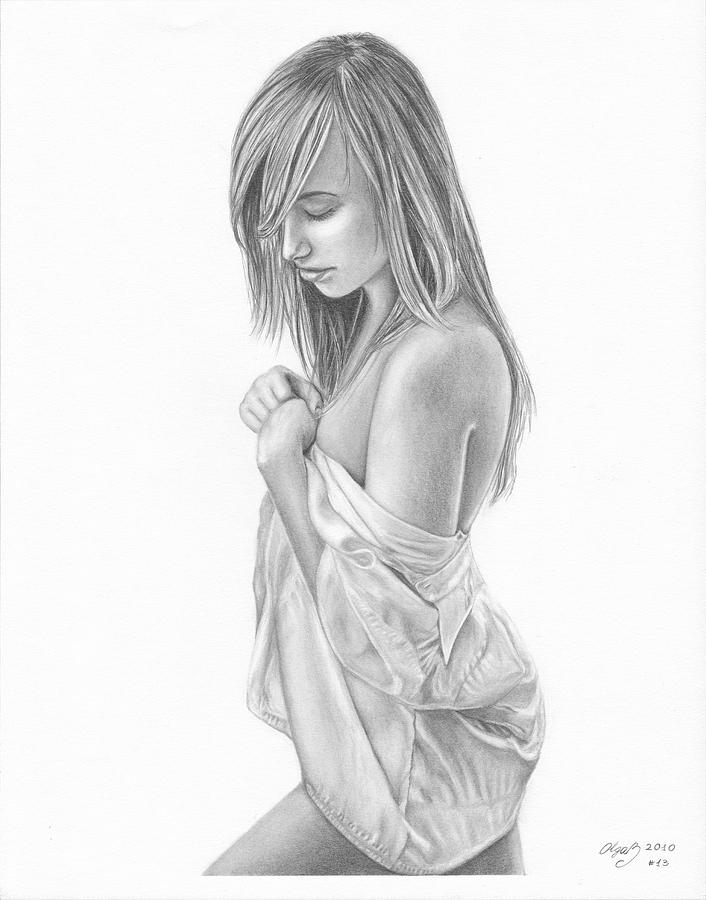 Drawing pencil girl naked — photo 7
