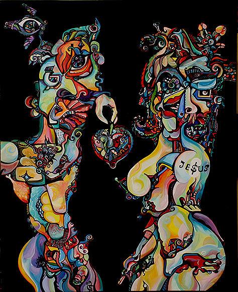 Adam Painting - Original Sinners by Alex Arshansky