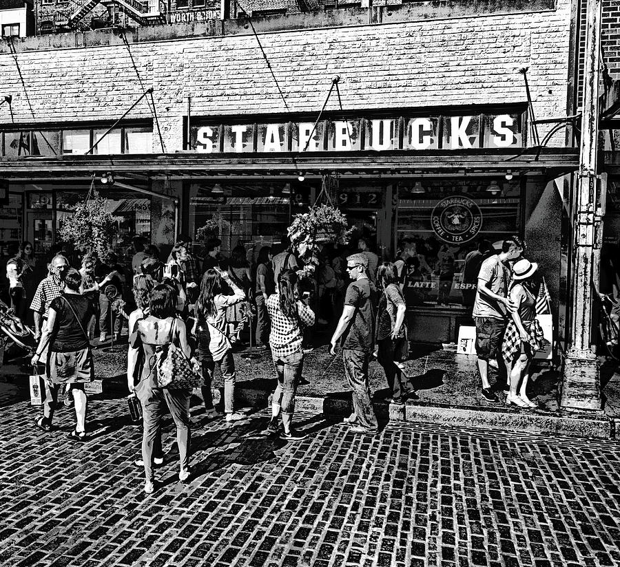 Original Starbucks Founded 1971 Photograph By Daniel Hagerman