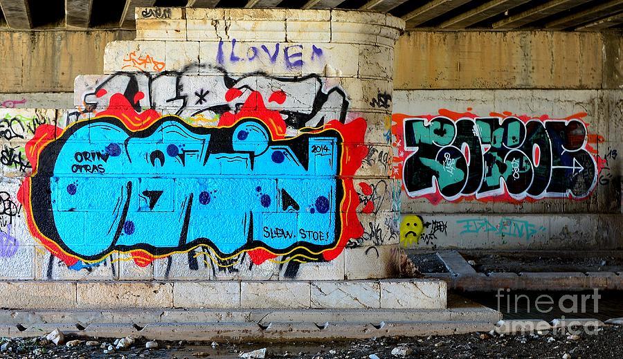 Graffiti Photograph - Orin         Graffiti  by Urban Artful