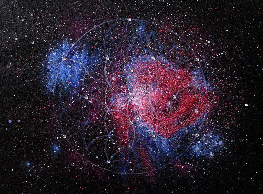 Cosmos Painting - Orion Nebula by Murielle Sunier