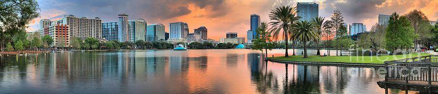 Orlando Florida Sunset Panorama Photograph