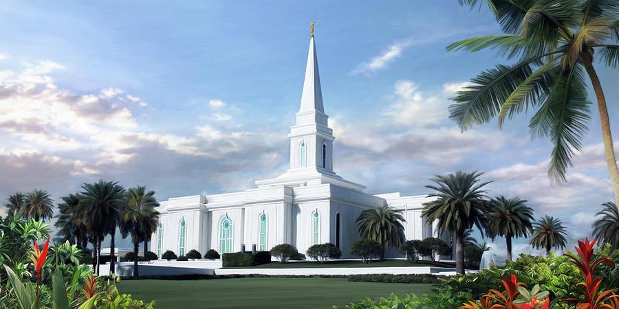 Orlando Painting - Orlando Florida Temple by Brent Borup