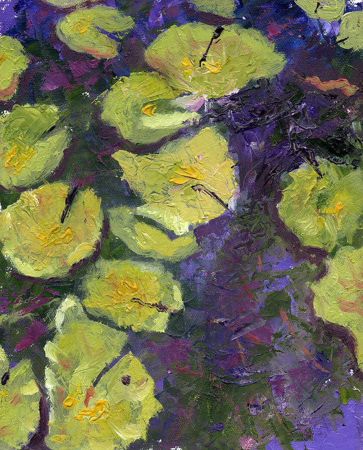 Abstract Painting - Orlando Lilies by Diane Martens