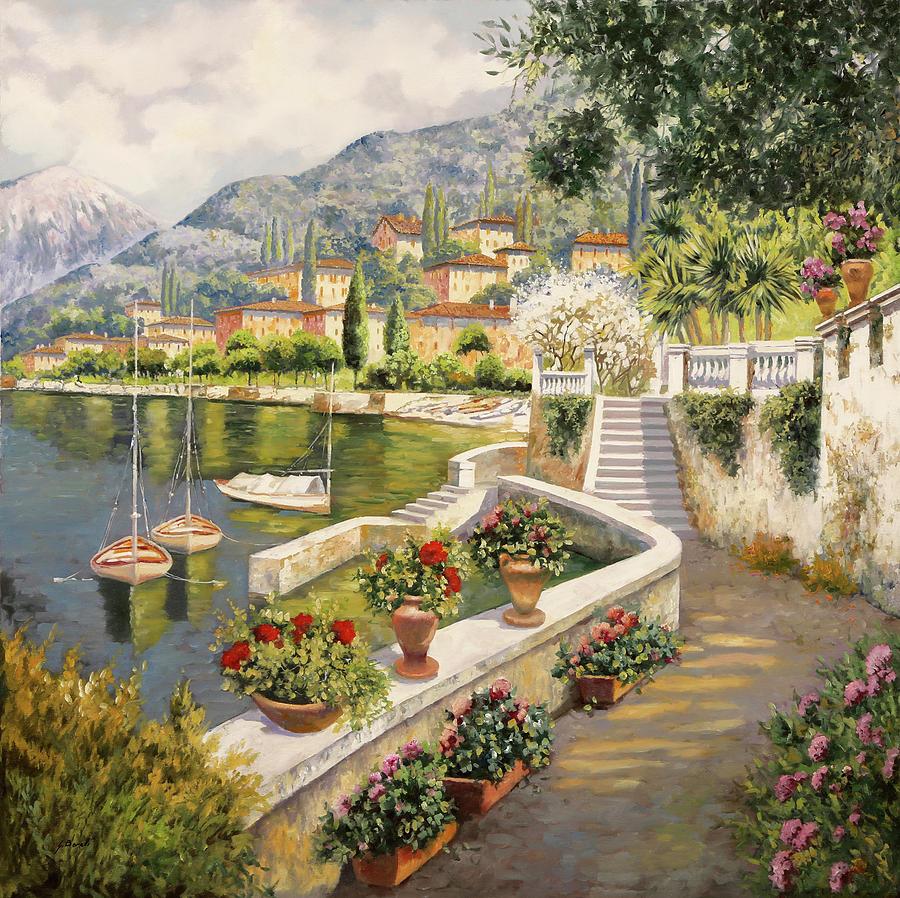 ormeggio a Bellagio Painting