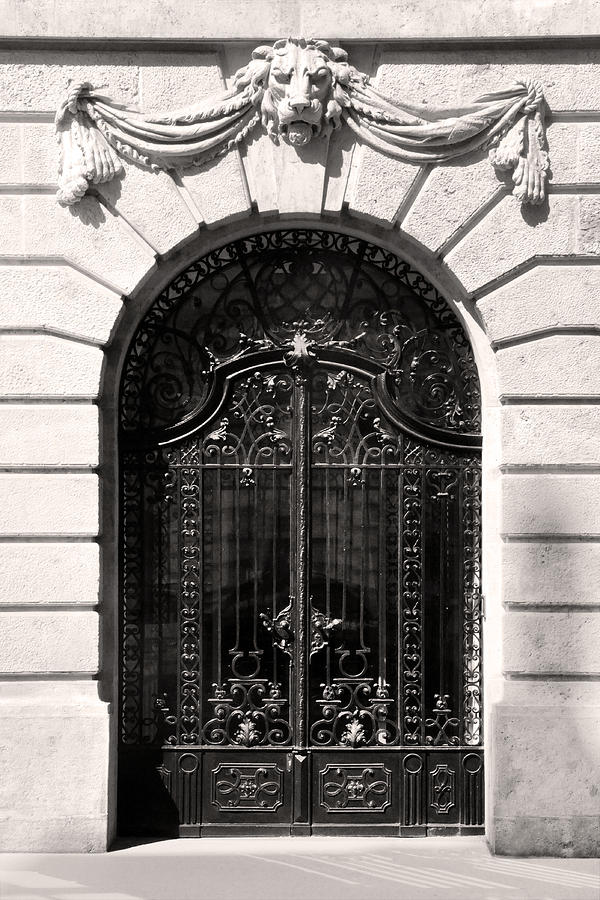 Ornamental Relief - Ornamental Wrought Iron Doors With Lion Budapest by James Dougherty & Ornamental Wrought Iron Doors With Lion Budapest Relief by James ...