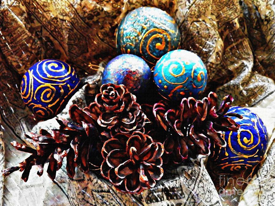 Christmas Photograph - Ornaments 6 by Sarah Loft