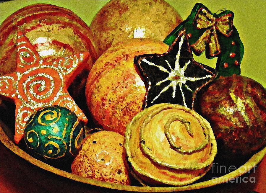 Christmas Photograph - Ornaments by Sarah Loft