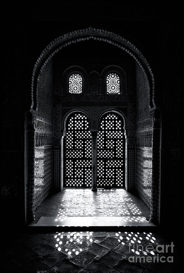 Alhambra Photograph - Ornate Alhambra Window by Jane Rix