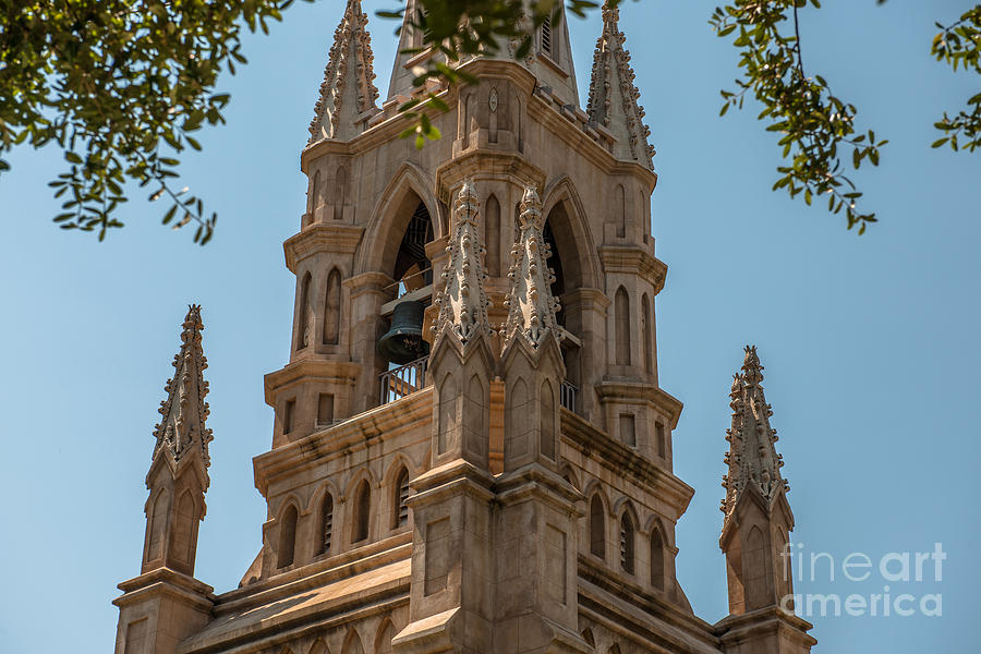 Ornate Church Bell Tower Photograph