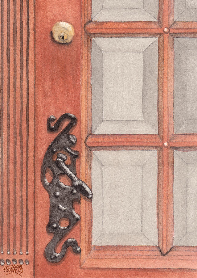 Handle Painting - Ornate Door Handle by Ken Powers
