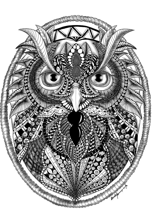 Ornate Owl by Becky Herrera