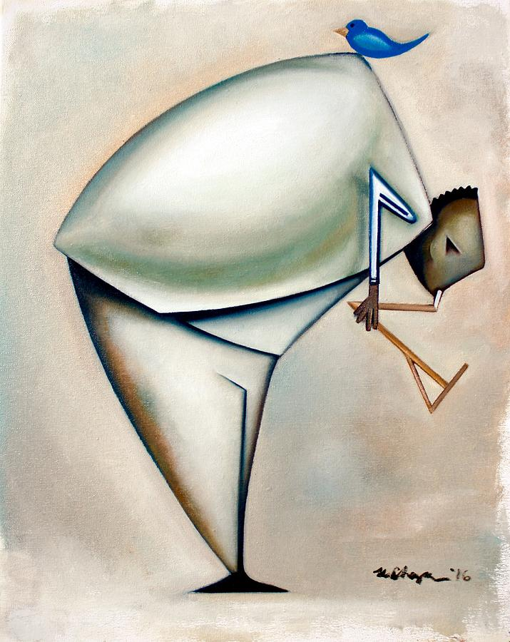 Jazz Painting - Ornithologis Dualis by Martel Chapman