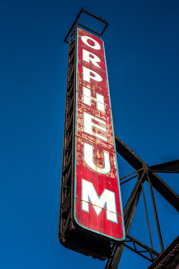 Sign Photograph - Orpheum Vertical by Todd Klassy