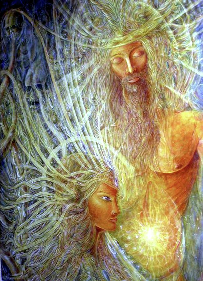 Mythology Painting - Orpheus and Eyridike by Arkis Krayl