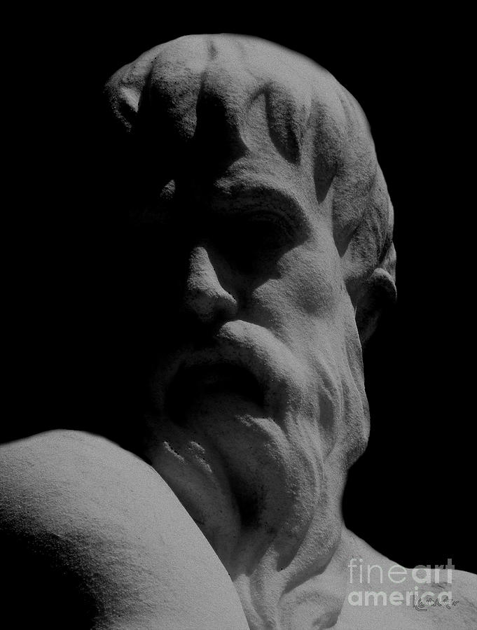 Black And White Photograph - Orpheus Looks Back by RC DeWinter