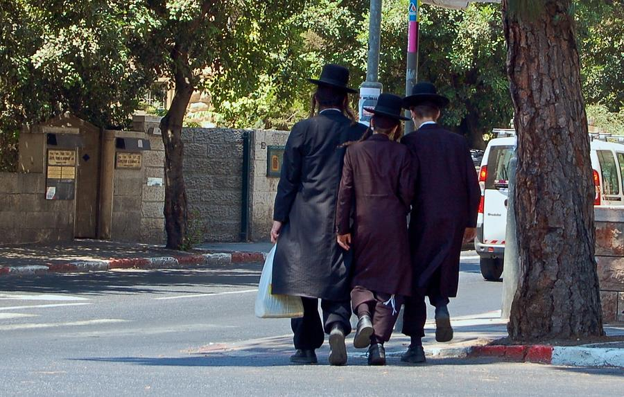 Israel Photograph - Orthodox Jews In Jerusalem by Susan Heller