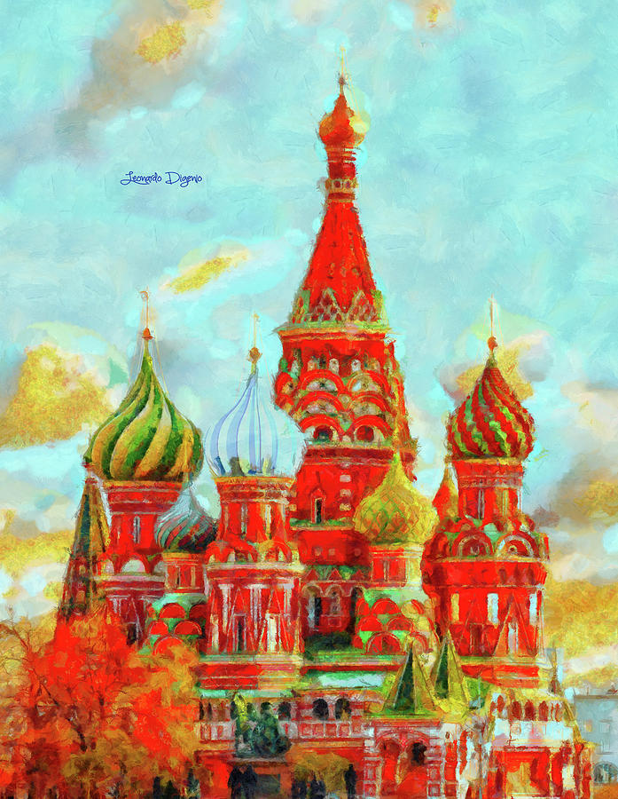 Ortodox Moscow - Val Dorcia Style Painting