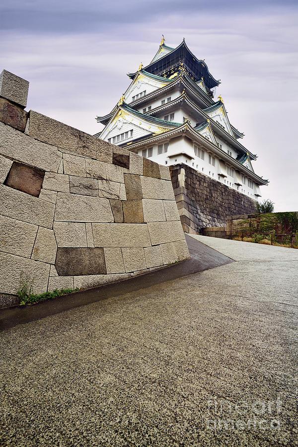 Osaka Castle Osaka Jo And Its Fortification Wall Beautiful Morni Photograph By Awen Fine Art Prints