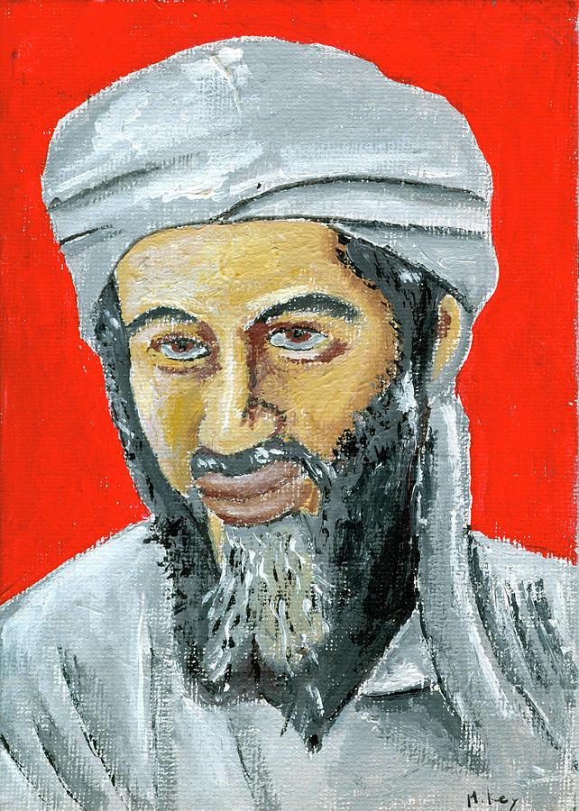 Bin Laden Painting - Osama by Mikey Milliken