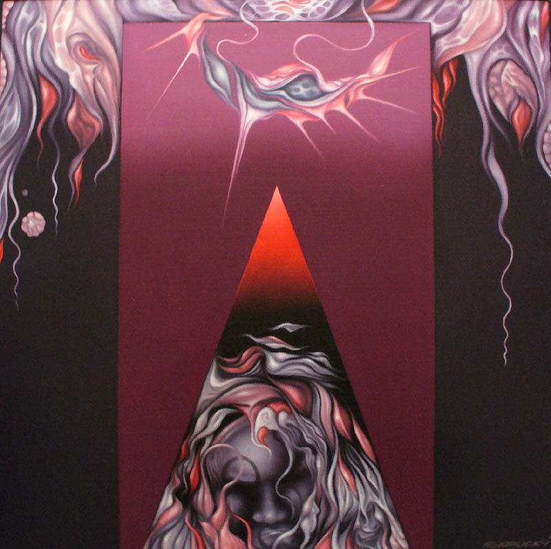 Oil Painting - Osamely Lovec by Jan Skalicky