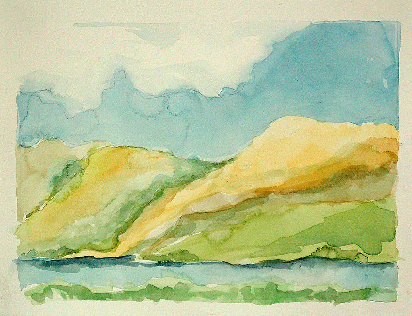 Landscape Painting - Osbourne 1 by Anne Kinsey