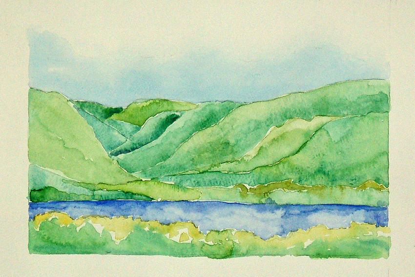 Landscape Painting - Osbourne 2 by Anne Kinsey
