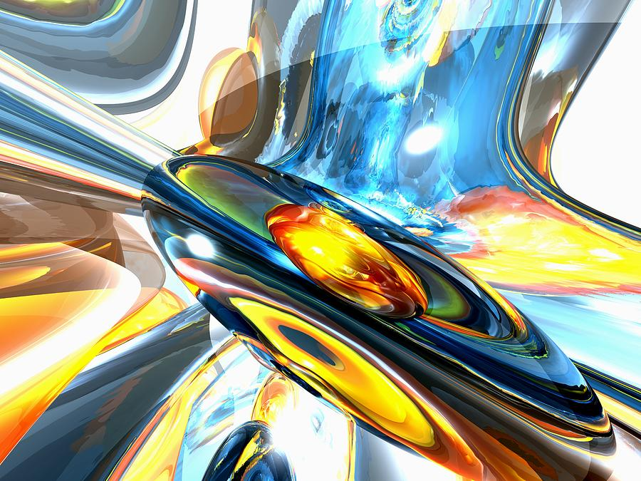 3d Digital Art - Oscillating Color Abstract by Alexander Butler