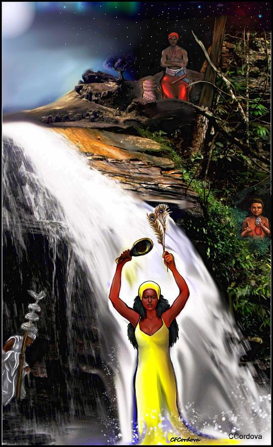 Oshun Obatala Elegua And Chango Digital Art By Carmen Cordova