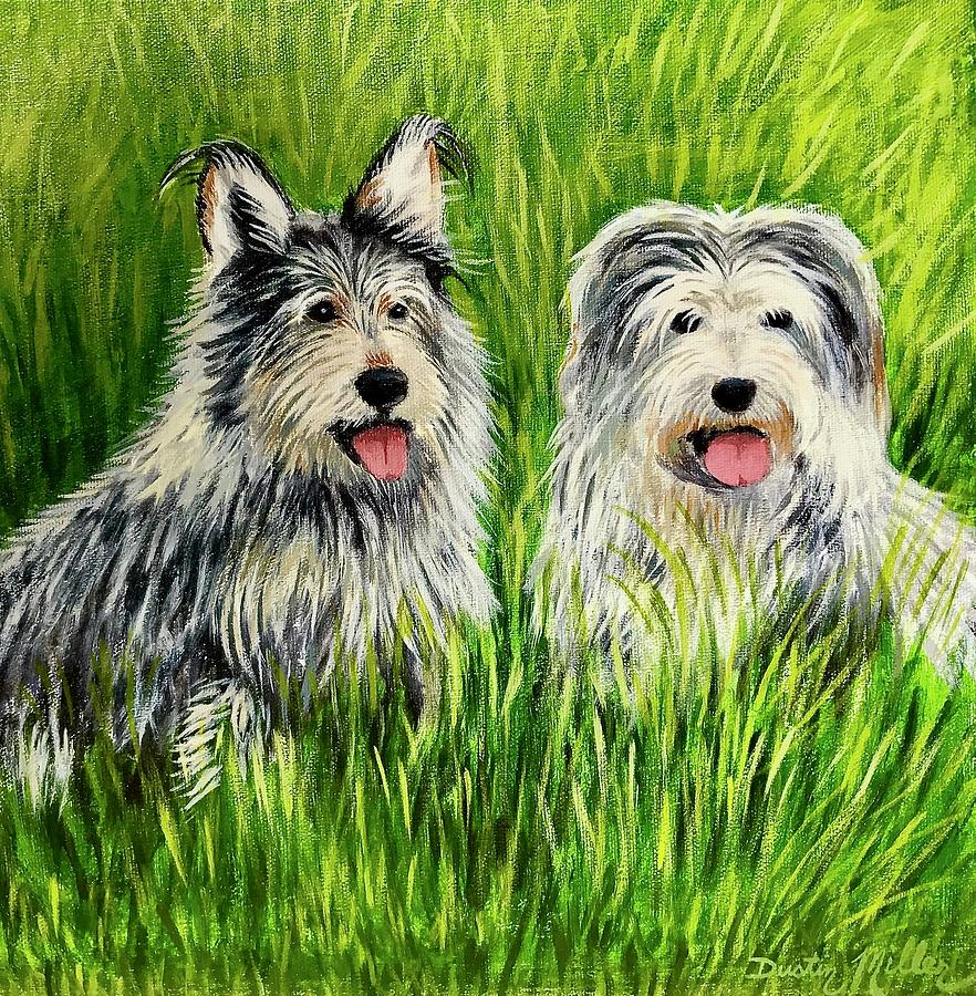 Painting Painting - Oskar And Reggie by Dustin Miller