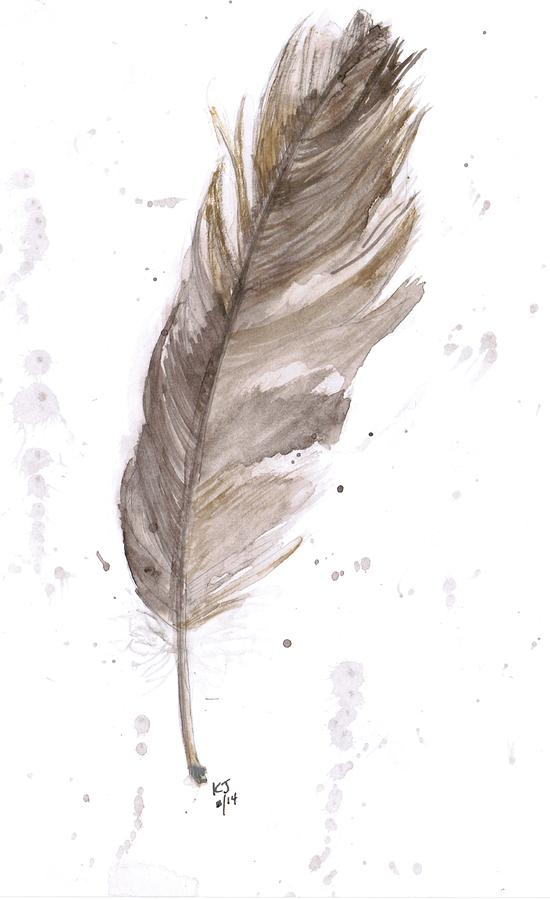 Feather Painting Art