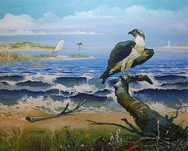 Marine Painting - Ospreys World by John Tubb