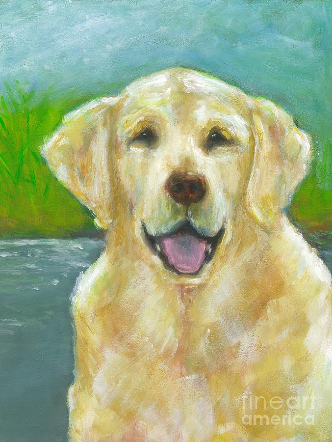 Labs Painting - Ossie by Frances Marino