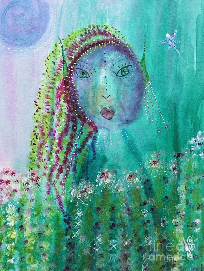 Fairy Painting - Ostara by Julie Engelhardt