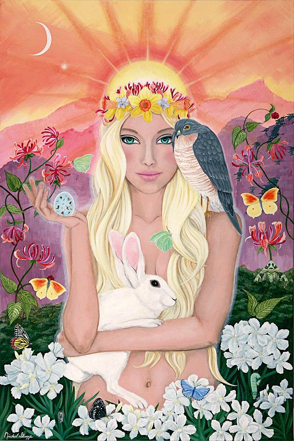 Spring Painting - Ostara/spring by Nichol Skaggs