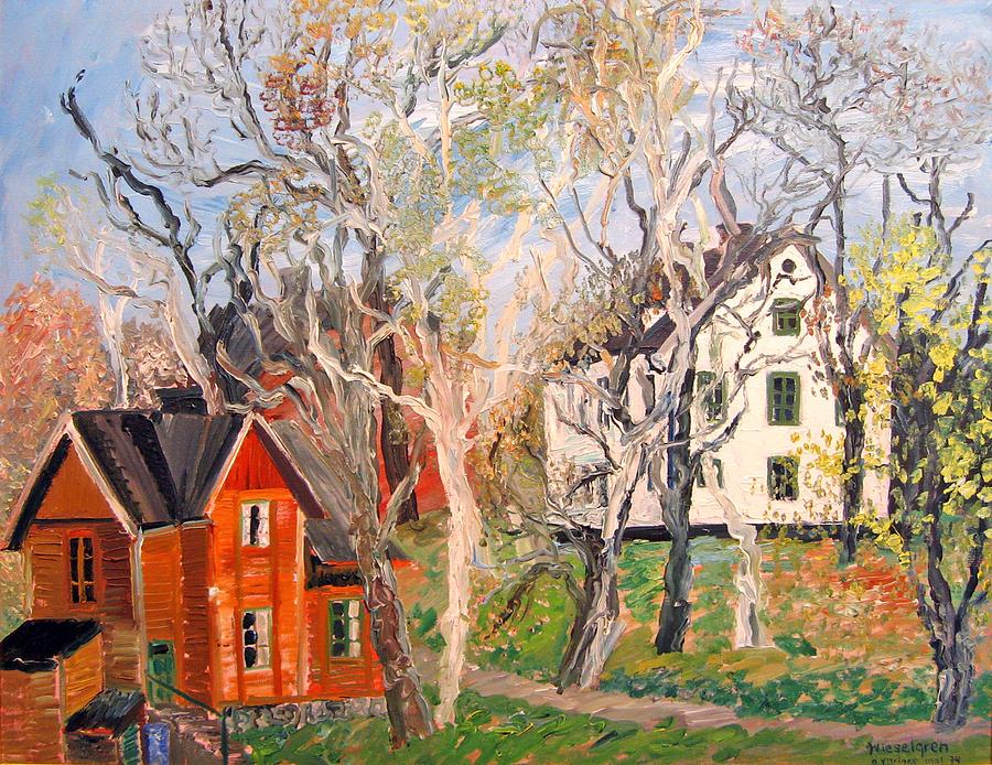 Landscape Painting - Ostra Yttringe Gard  by Gertrude Wieselgren