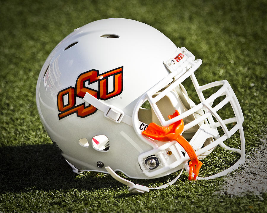 Oklahoma State Photograph - Osu Football Helmet by Replay Photos