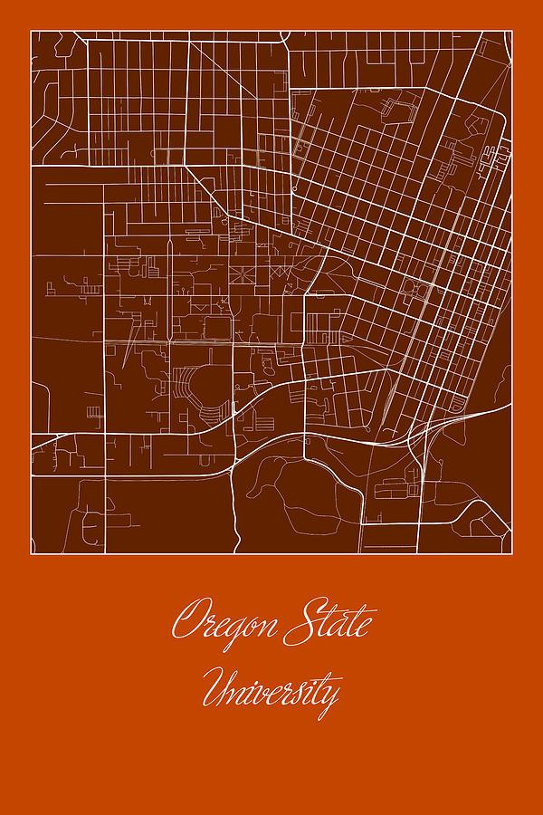 Osu Street Map - Oregon State University Corvallis Map