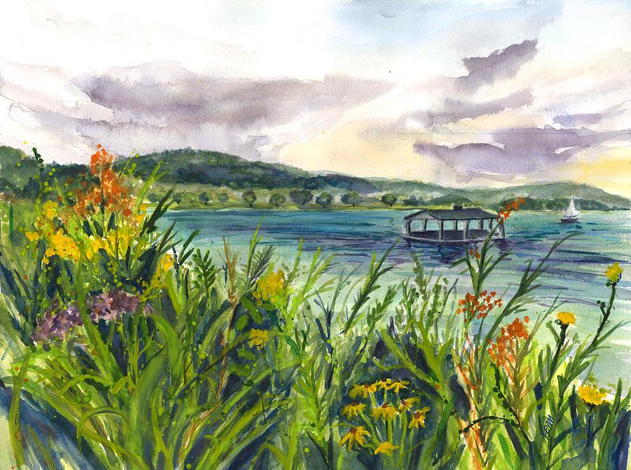 Otesaga  Lake by Clara Sue Beym