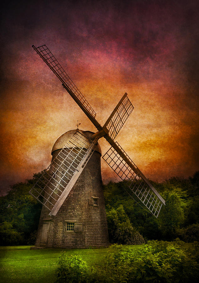 Hdr Photograph - Other - Windmill by Mike Savad