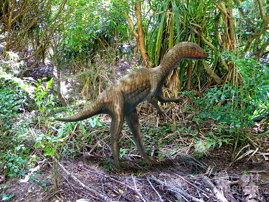 Dinosaur Mixed Media - Othiniela In The Forest by Frank Wilson